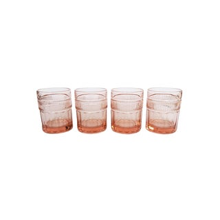 Vintage Anchor Hocking Pink Depression Glasses - Set of 4