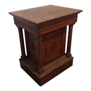 Antique Knights of Pythias Oak Table or Stand