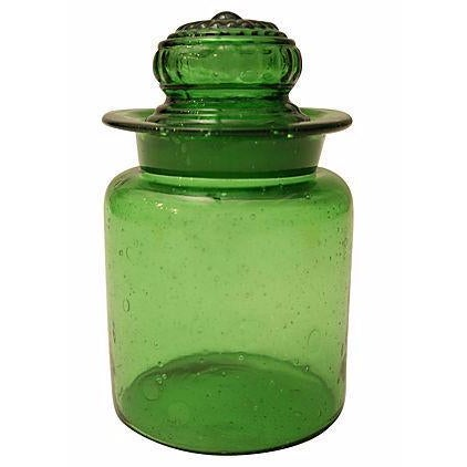 Bright Green Apothecary Lidded Jar - Image 1 of 4