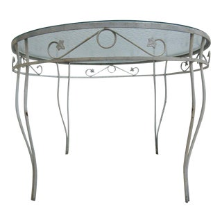 Vintage Round Iron Outdoor Dinette Table