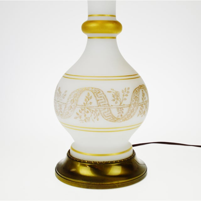 Vintage Satin Glass Table Lamp - Image 8 of 10