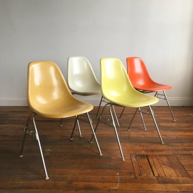 Vintage Herman Miller Eames Fiberglass Shell Chairs - Set of 4 - Image 2 of 10