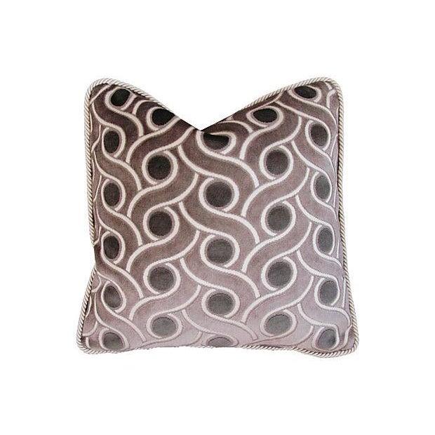 Custom Osborne & Little Cut Velvet Pillows - Pair - Image 2 of 7