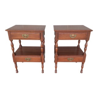 Harden Solid Cherry 2 Drawer Nightstands - A Pair