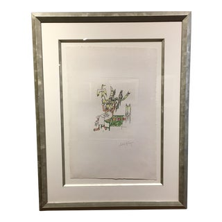 Wifredo Lam Untitled Watercolor Etching