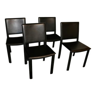 Room and Board Madrid Leather Chairs- Set of 4