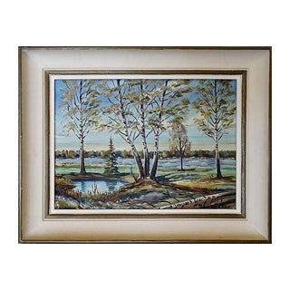 Birch Trees Oil Painting