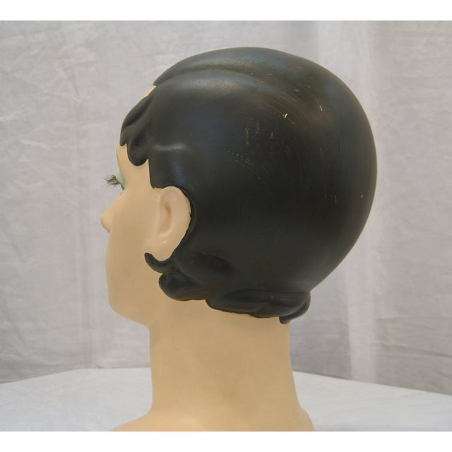 Brunette Vintage Mannequin Head - Image 5 of 6