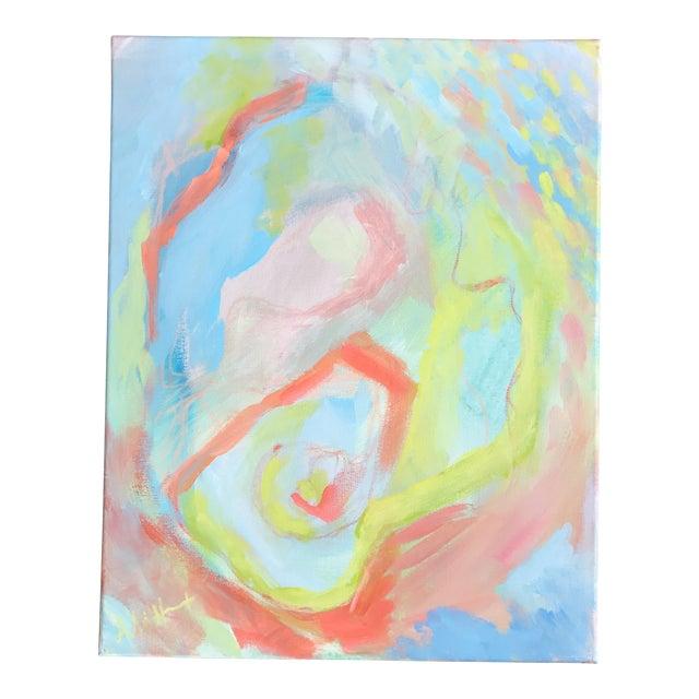 Rainbow Row Painting - Image 1 of 5