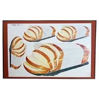 Vintage 1960 Bread Advertisement Cut Sheet Poster