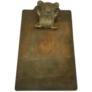 Vintage Brass Bear Clipboard