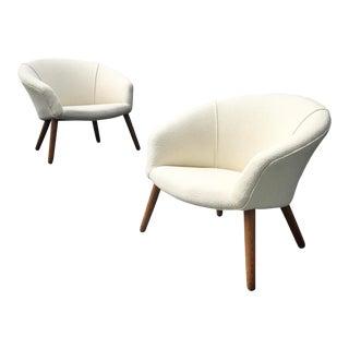 "Nanna Ditzel Ap26 ""Pot"" Lounge Chairs - A Pair"