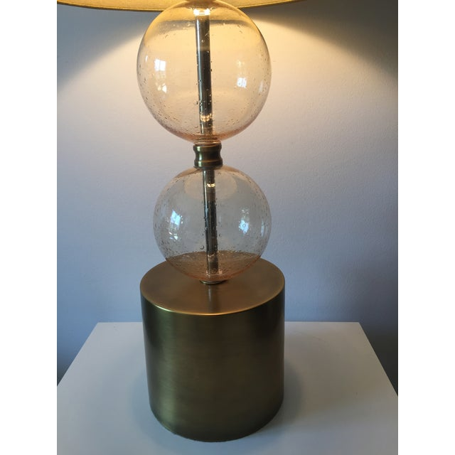 Arteriors Gold Seeded Glass Lamp - Image 3 of 7