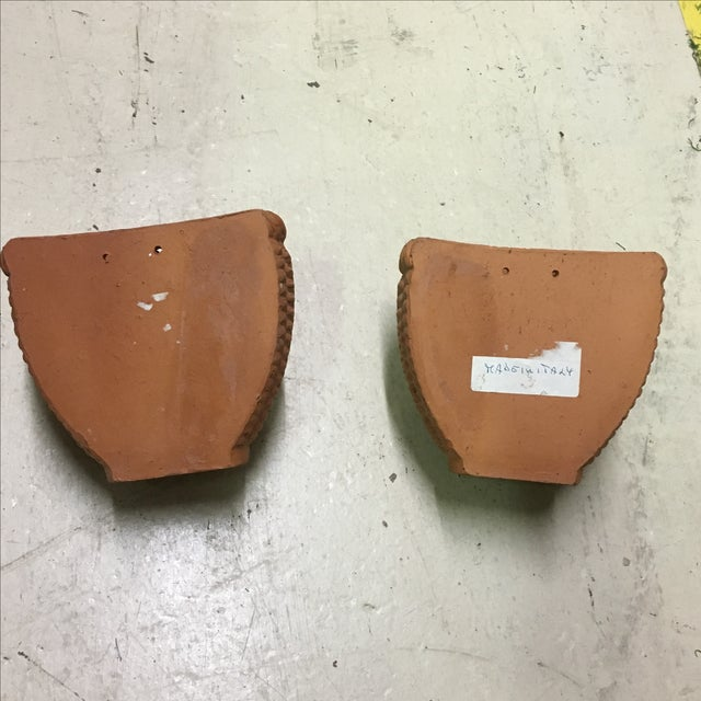 Italian Terra Cotta Wall Pocket Planters - A Pair - Image 6 of 6