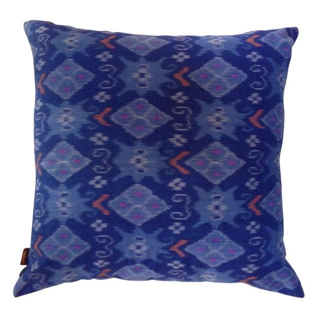 Image of Blue Balinese Ikat Pillows - a Pair