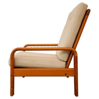 Danish Modern Teak High Back Lounge Chair