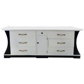 Lacquered Greek Key Credenza