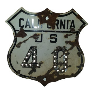Antique Route 40 Road Sign