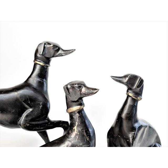 Bronze Greyhound Dog Statues - Set of 3 - Image 9 of 11