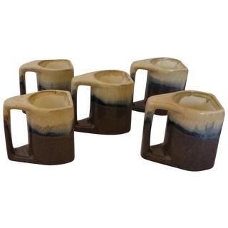 Stacking Retro Coffee Mugs - Set of 5