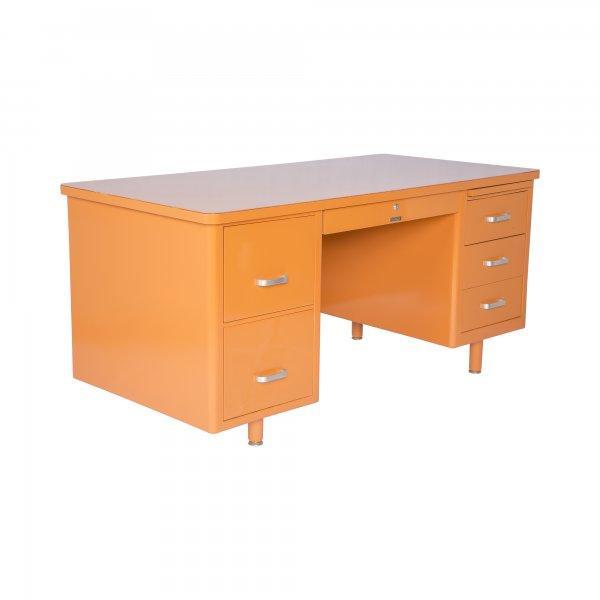 McDowell-Craig Vintage Tanker Orange Desk - Image 2 of 5