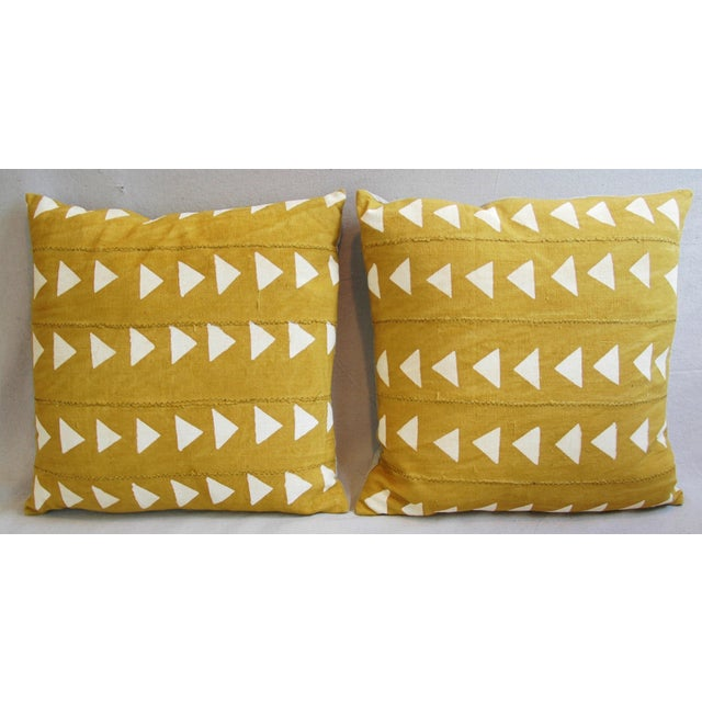 Boho Chic African Textile Pillows - A Pair - Image 3 of 10