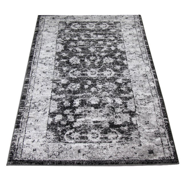 "Distressed Vintage Gray Rug Doormat - 1'8"" x 2'8"" - Image 3 of 5"