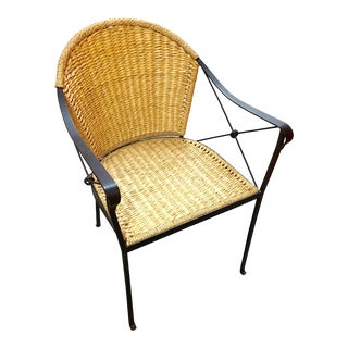 Wicker and Metal Chair