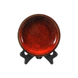 Danish Ernst Keramik Red Dish