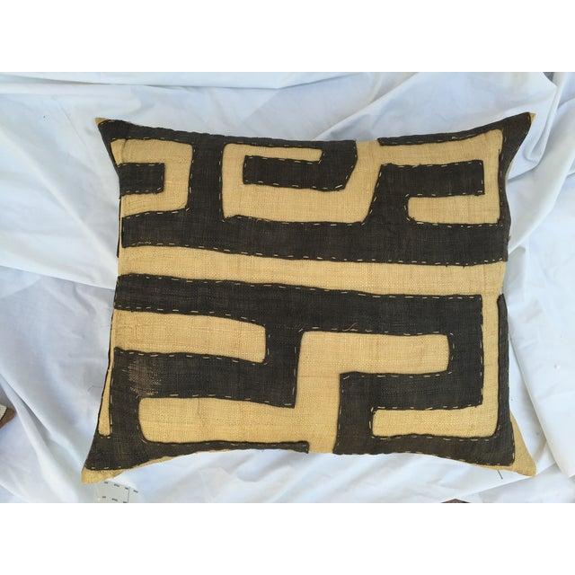 African Kuba Maze Pillow - Image 3 of 6