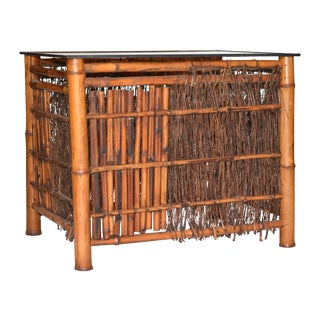 Antique Japanese Bamboo Table