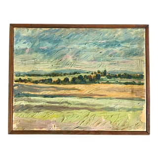 Provincial Impressionistic Landscape Painting of the Horizon