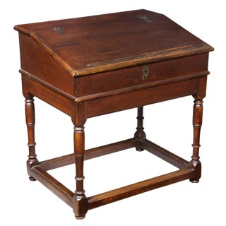 William & Mary Hard Pine Desk on Frame