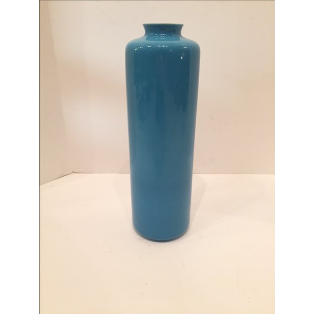 Middle Kingdom Teal Lotus Vase - Image 3 of 5