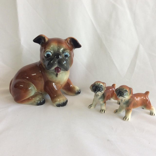 Image of Mid-Century Ceramic Dogs - Set of 3