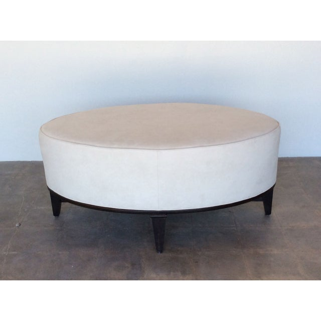 Oval Microfiber Coffee Table Ottoman Chairish