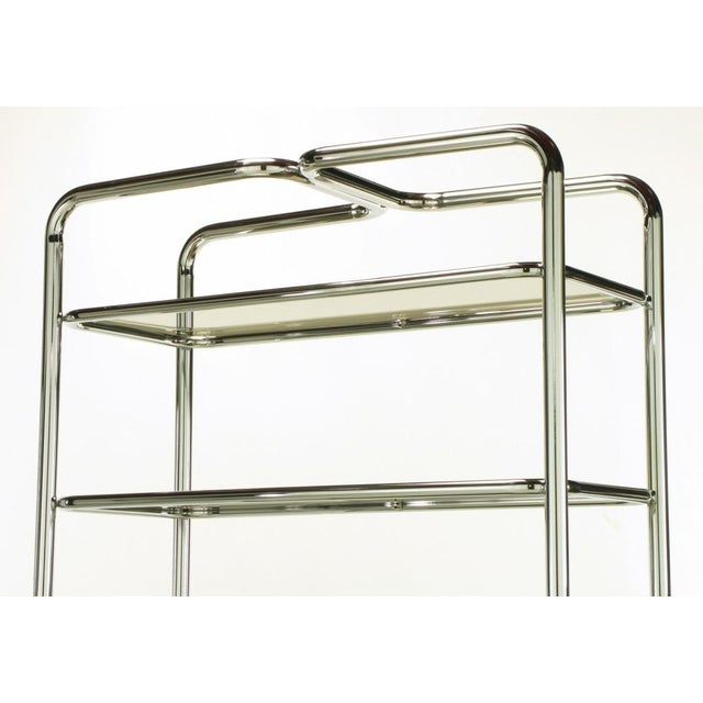 Tubular Chrome & Smoked Glass Five Shelf Etagere. - Image 6 of 10
