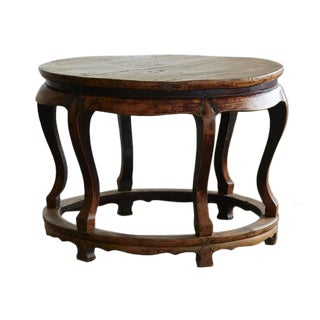 Antique Chinese Round Center Table
