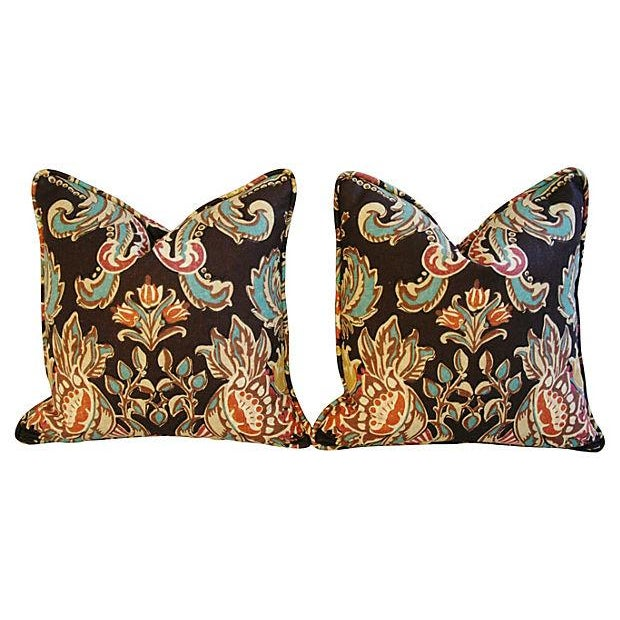 Designer Kravet Lutron Espresso Pillows - A Pair - Image 6 of 6
