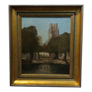 Marianne Trench - English Cathedral Landscape - Impressinist Oil painting - c1930s