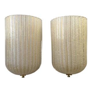 Italian Murano Glass Sconces- A Pair