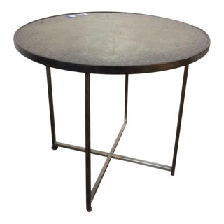 Mid-Century Modern Style Metal & Stone Dining Table