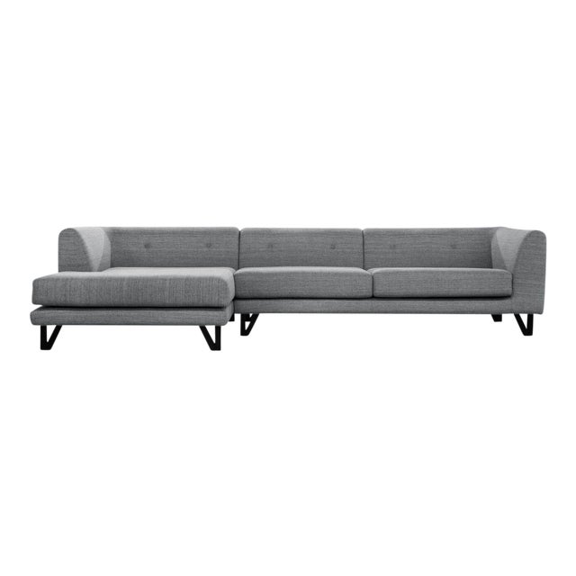 Image of Sarreid LTD Bella Donna Gray Sectional Chaise