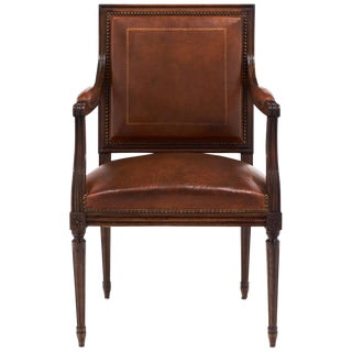 Antique Louis XVI Leather Armchair
