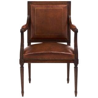 Antique Louis XVI Leather Armchair