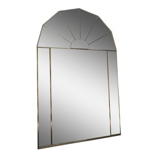 Brass Sculptural Hollywood Regency Mirror