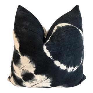 Mali Mud Cloth Tie-Dye & Linen Pillow