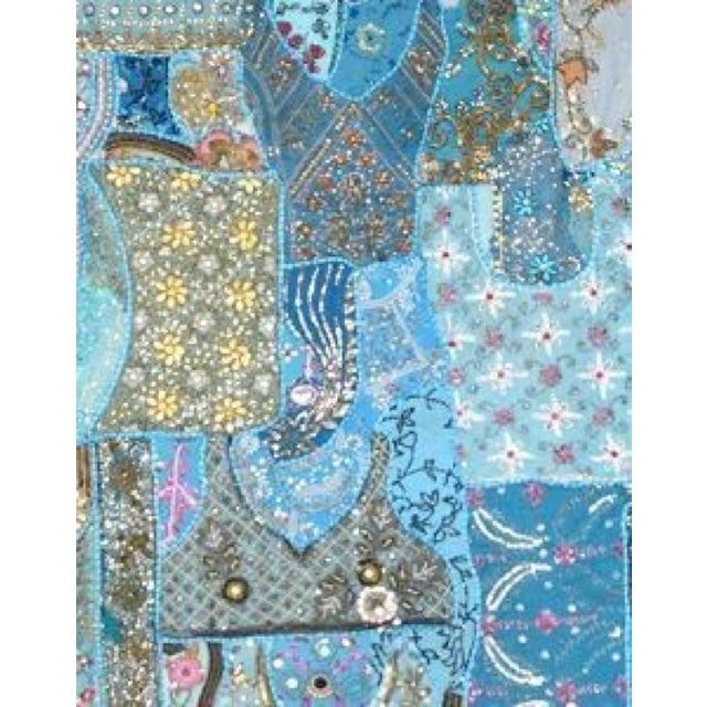 Image of Multi-Purpose Light Blue Hand-Worked Panel