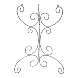 Scrolled White Iron Side Table Base