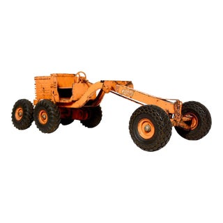 Adams Motor Grader Vintage Toy Pressed Metal